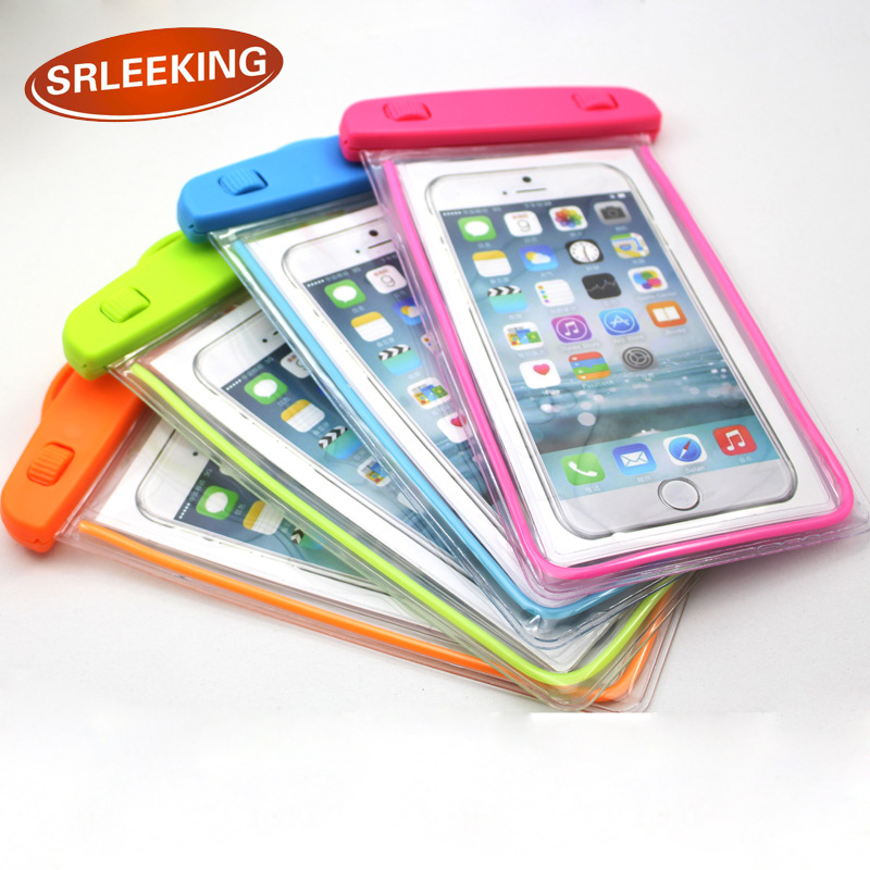SRLEEKING 6 inch Luminous outdoor waterproof phone bags PVC material fashion touch mobile