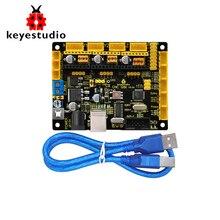 Nova placa keyestudio cnc grbl v0.9 para cnc/gravação a laser/robô de escrita.