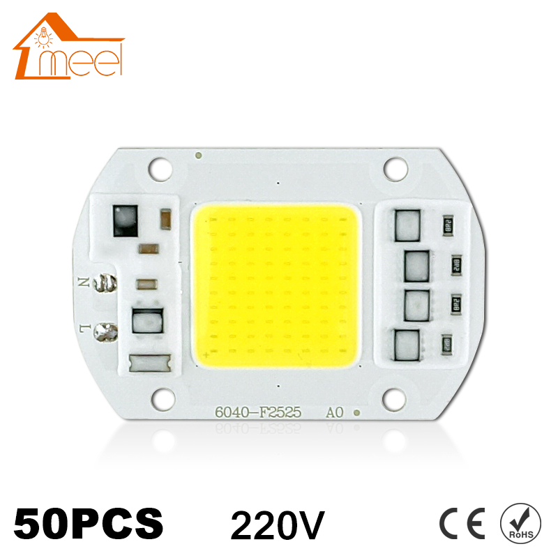50Pcs COB LED Chip 10W 15W 20W 30W 50W 220V 240V Input High Lumen LED Bulb Lamp For DIY Floodlight Spotlight-in LED Chips from Lights & Lighting
