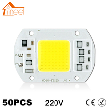 50Pcs COB LED Chip 10W 15W 20W 30W 50W 220V 240V Input High Lumen LED Bulb Lamp For DIY Floodlight Spotlight