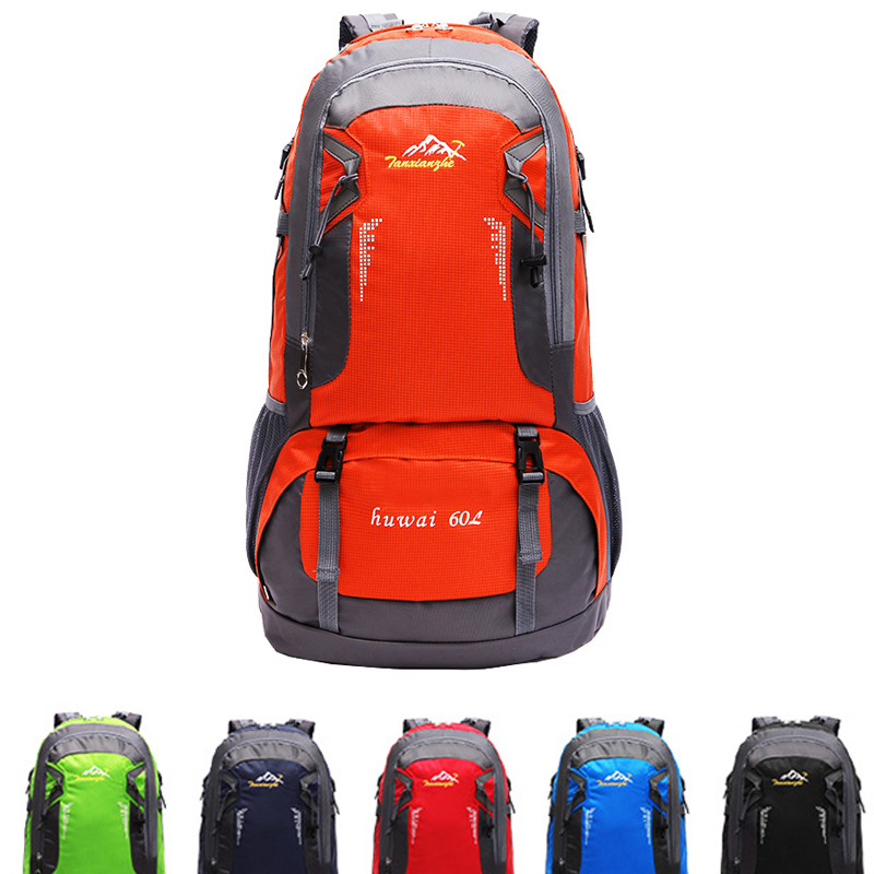 ФОТО Large 60L Outdoor Backpack Unisex Travel Multi-purpose Climbing backpacks Hiking big capacity Rucksacks Camping Sports bags
