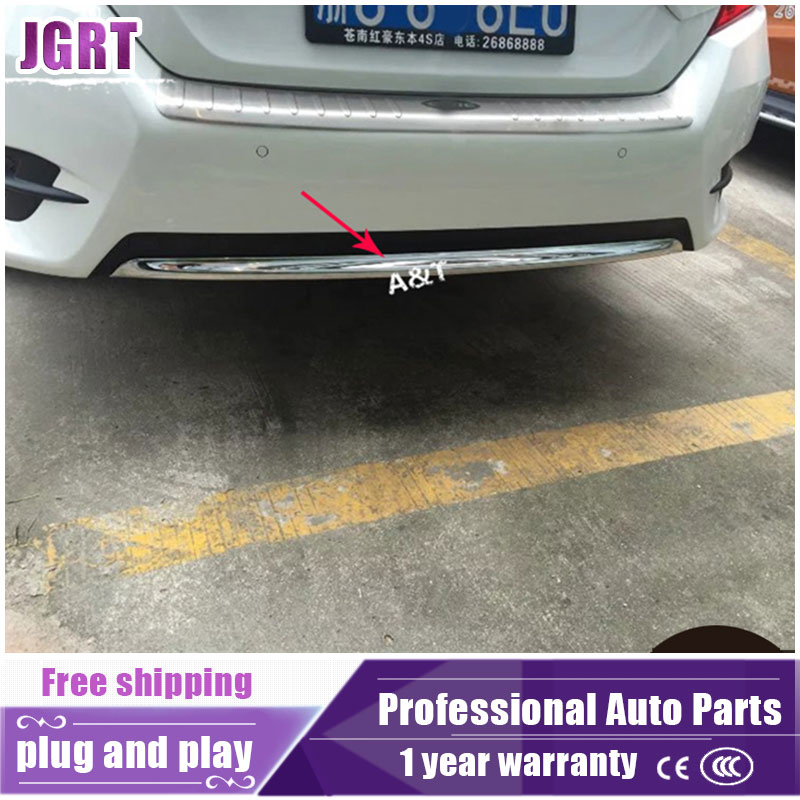 JGRT Car Styling For Civic 2016 2017 Model High Quality ABS Rear Bumper Decoration Chrome Trim