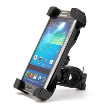 Non-slip bicycle support universal handle expanding phone holder Black mobile fixation Bracket