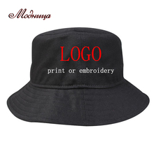 3a1f06ff Custom Personalized Print Bucket Hat Adult Men Women Outdoors Sports  Fashion Casual Cotton Gorras Hats Free
