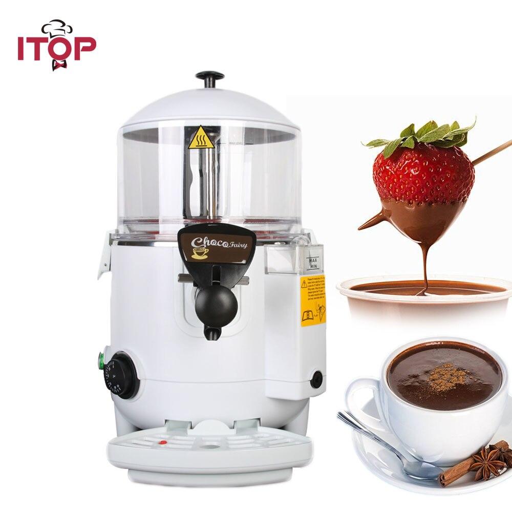 Ev Aletleri'ten Mutfak Robotları'de ITOP 5L/10L ticari sıcak çikolata ocak makinesi  kahve sıcak çikolata akıtma makinesi sıcak içecek ocak makinesi title=