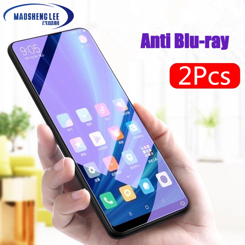 2Pcs/lot Full Tempered Glass For Xiaomi Mi Mix 2 2S 3 Screen Protector 0.26mm 9H Anti Blu-ray Glass Film For Xiaomi Mi Mix 3 2s