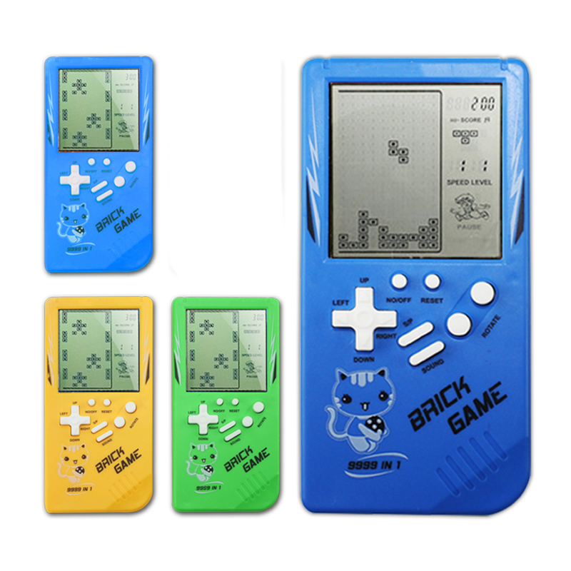 US $3 21 34% OFF|Retro Handheld Game Players Tetris Classic Childhood Game  Electronic Games Toys Game Console Riddle Educational Toys For Child-in