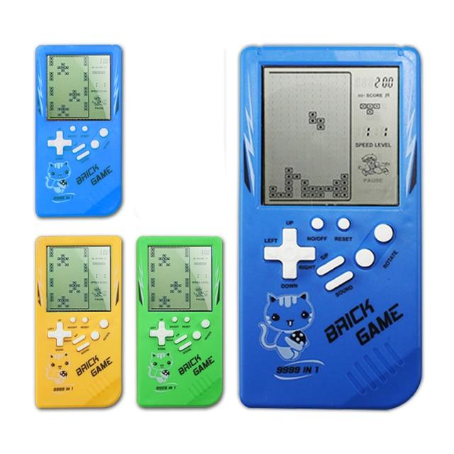 Retro podręczne konsole do gier Tetris klasyczne dzieciństwo gry elektroniczne zabawki do gry konsola do gier Riddle edukacyjne zabawki dla dziecka