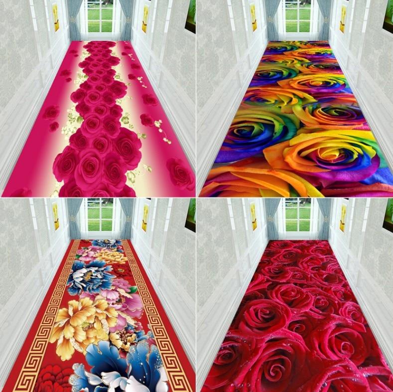 NEW Creative Hallway Entrance Carpets Flannel 3D Plant Floral Printed Carpet For Door Floor Living Room Kitchen Bathroom Mats