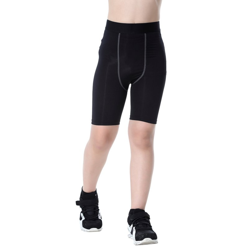 Kids Children Sports Shorts Quick Dry Breathable Running  Compression Base Layer Running Tights Skin Sport Wear Fitness Shorts