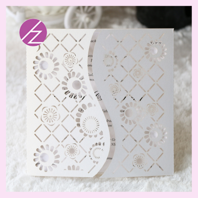 12/pcs paper craft wedding supplie folded unique design laser cut