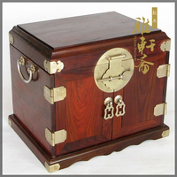 A Zhai Gallery rosewood wooden jewelry box box of high grade multilayer rosewood wedding gifts