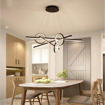 Moderno minimalista personalidad colgante luces para comedor ...