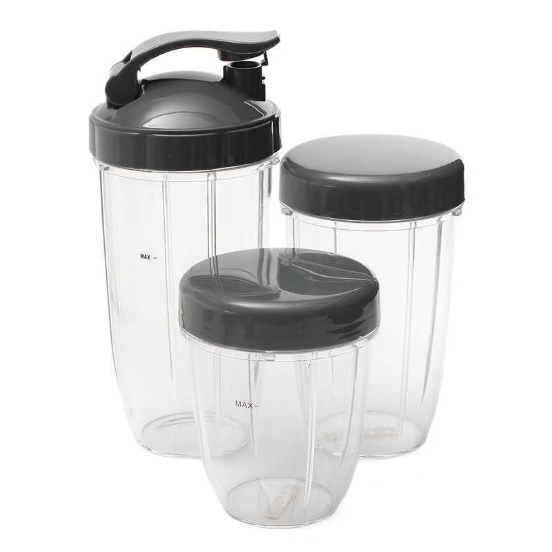 3Pcs Cups Substituição 32 Oz Oz Tall Colossal + 24 + 18oz Copo Pequeno + 3 Tampas Para nutribullet Peças Utensílio de Cozinha Espremedor de Frutas B