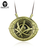 Doctor Strange Necklaces Dr Strange Steve Cosplay Agamotto Eye Rope Chain Pendent Necklaces Fashion Jewelry Christmas