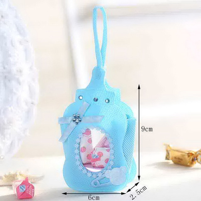 Online Shop 12pcs Baby Shower Favor Bags Baby Bottle Candy Bag Gift
