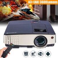7000 люмен A3 + AB проектор 1080P Full HD ЖК дисплей Wifi дома Театр Кино 72 Вт светодио дный Android 4,4 Bluetooth мультимедийный проектор