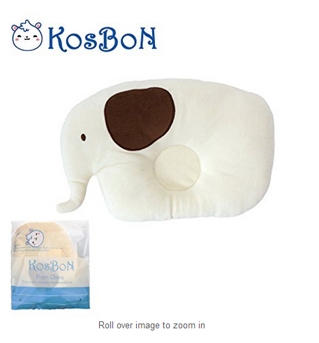 Nature Pure Cotton Anti Roll Baby Memory Foam Shaping Pillow Cute Elephant Shape Head Positioner Prevent Flat Head Baby Pillow