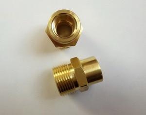 Image 2 - 100% myjni samochodowej złącze węża nici M22 * 1.5mm, otwór dia.14mm, gwint wewnętrzny M14 * 1.5