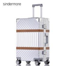 """Sindermore 20 """"24"""" 26 """"29"""" aluminio marco pc llevar en la dureza rodante hilandero trollry maleta de viaje de equipaje de viaje"""