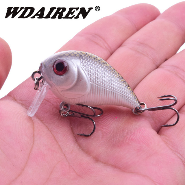 Cheap 1Pcs Crank Fishing Lures 5cm 7g Topwater Wobblers Swim jig bait Artificial Japan Fishing Lure fishing Tackle pesca WD-424