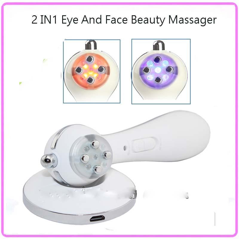 RF Electroporation Mesotherapy Led Photon Face Eye Wrinkle Removal Skin Lifting Facial Rejuvenation Firming Beauty Massager kingdom kd 9900 ems rf electroporation beauty device