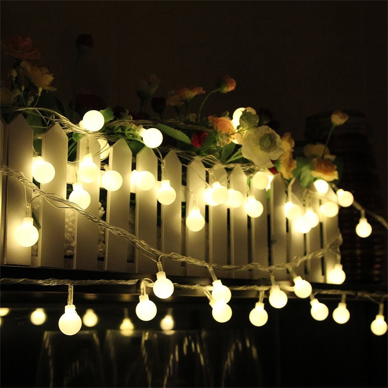 buy outdoor 10 meter 80 led connectable festoon globe ball string light fairy led christmas light garland wedding garden party decor from
