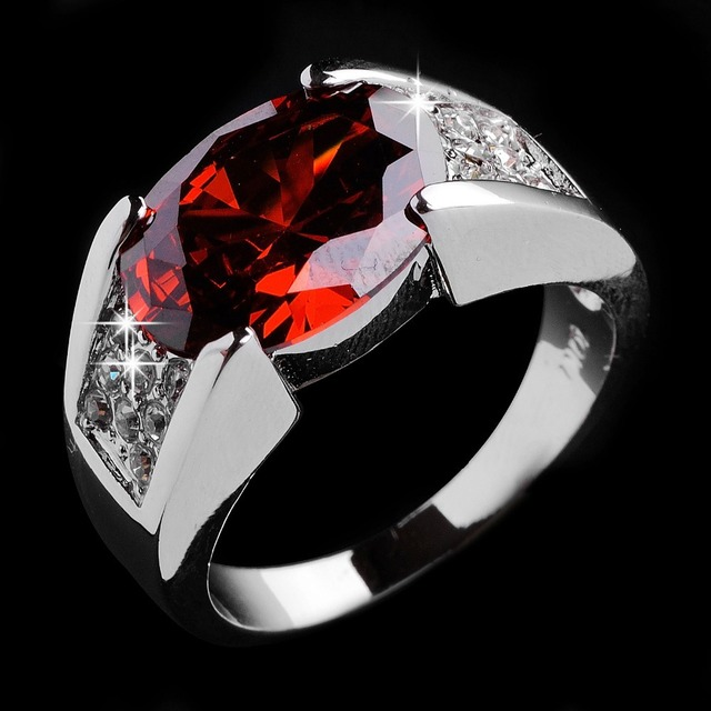 Fashion Jewelry Women Jewellery Ruby Wedding Rings Men S 10kt White Gold Filled
