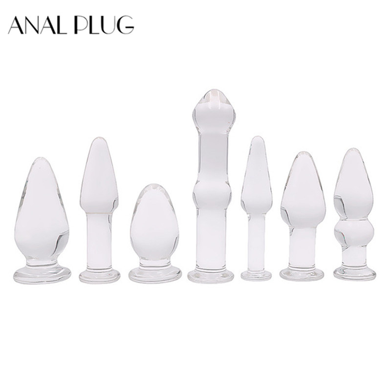 ANAL <font><b>PLUG</b></font> Crystal <font><b>Glass</b></font> butt <font><b>plug</b></font> Penis Big Long <font><b>Glass</b></font> Anal <font><b>Plug</b></font> Butt <font><b>Sex</b></font> <font><b>Toy</b></font> For Women Female Men Masturation Male Gay image