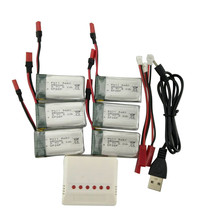 SYMA X54HW X54HC Remote control helicopter Parts Accessories 3.7V 850mah battery and 6-in-1 Charger