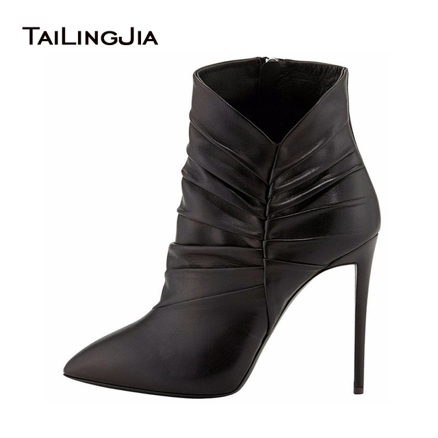 Women Autumn Sweet Pleated Ankle Boots