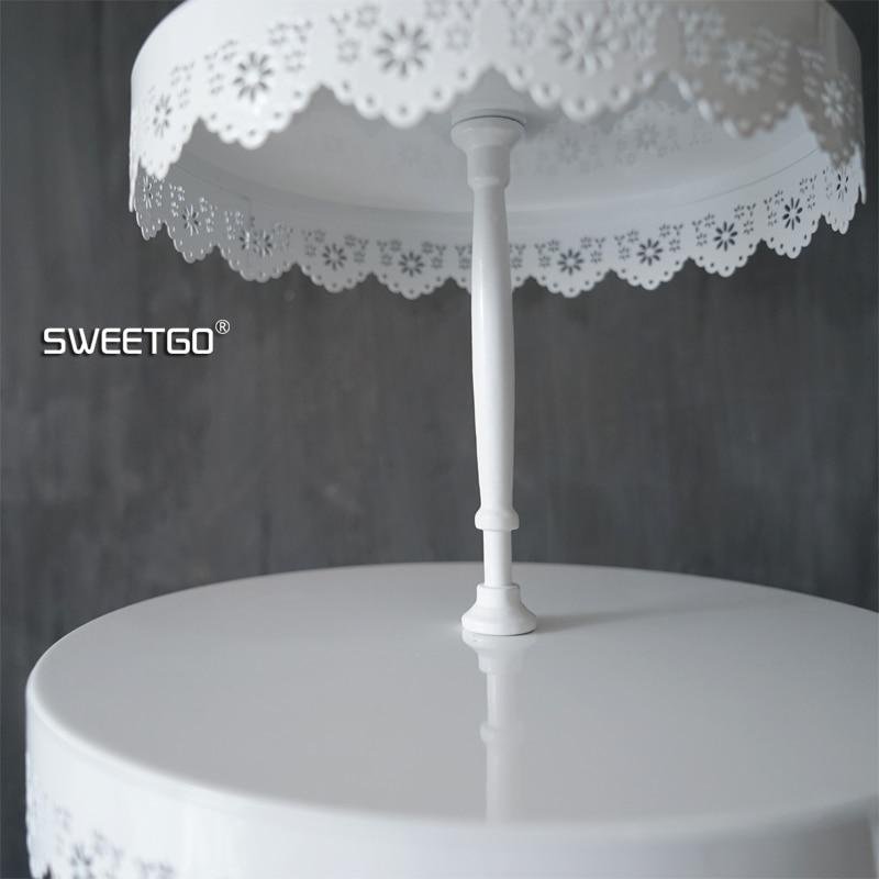 SWEETGO 2/3 niveles soporte de magdalenas decoración de pasteles de - Cocina, comedor y bar - foto 5