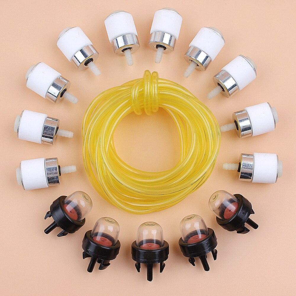 3Meter Fuel Line Filter Primer Bulb Fit MTD BL100 BL150 BL250 BL410 YM1500 Stihl Husqvarna Poulan Partner Trimmer Brush Cutter
