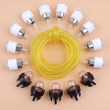 Gas Fuel Line Filter Primer Bulb Set Fit MTD Troy-Bilt BL100 BL150 BL250 BL410 YM1500 Trimmer Brush Cutter Lawn Mower