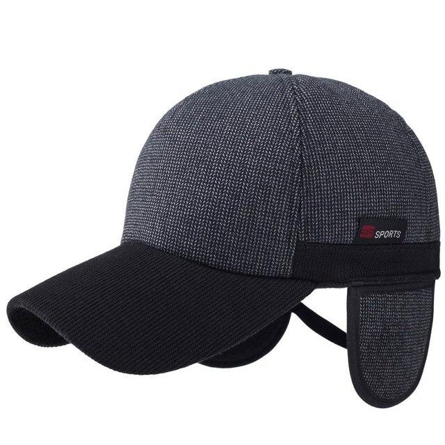 Новый мужской зимняя шапка спорт согреться бейсболка отдых человек зима теплая козырек открытый термальный тепло hat