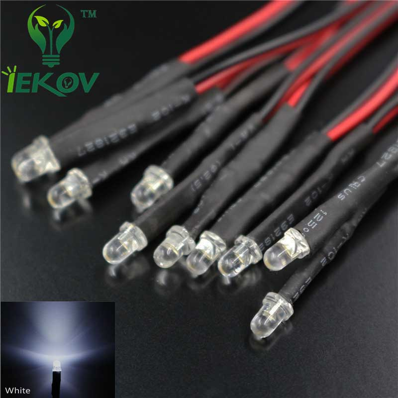 12V Pre-wired Bright LED Green Pack of 2