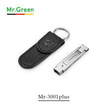 Stainless steel nail clipper genuine leather magnetic belt buckle ultra-thin finger plier portable finger scissors keychain stainless steel multifunctional plier finger nail clipper keychain bottle opener finger folding scissors
