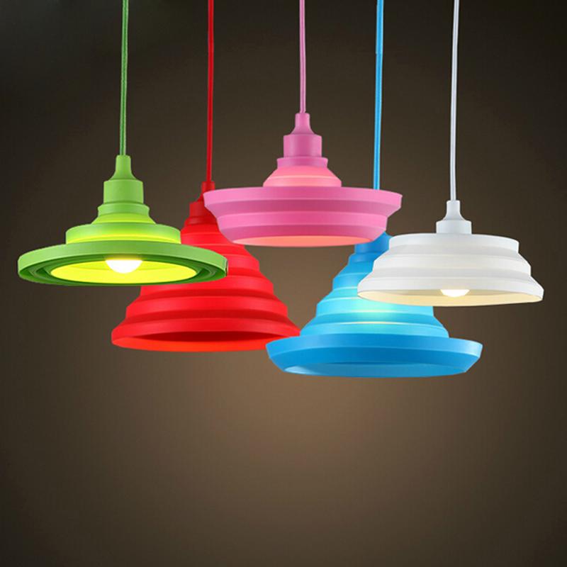 novelty colorida luces pendientes colores diy colgante de iluminacin metro cable art deco lmparas de techo moderna
