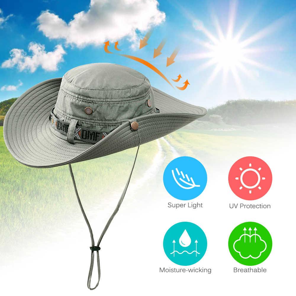 กลางแจ้ง Sun หมวกฤดูร้อน UV ป้องกัน Safari หมวกตกปลาหมวกล่าสัตว์
