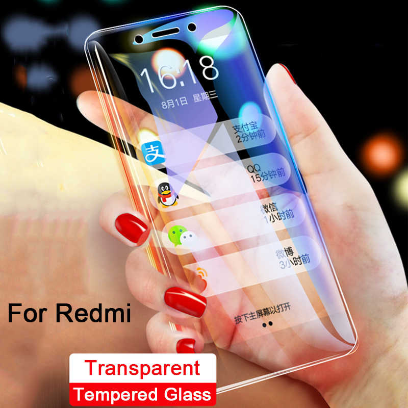 9H protective tempered glass on ksiomi redmi 6a screen protector for Xiaomi redmi go note 7 6 pro 4 4x 5a prime note7 note4 film