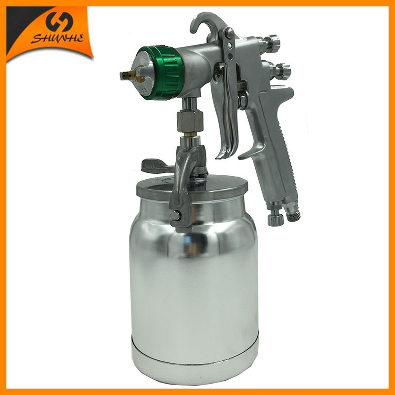 цена на SAT1155 air painting gun air compressor sprayer 1.3 automotive sprayer airbrush professional auto paint gun pneumatic paint hvlp