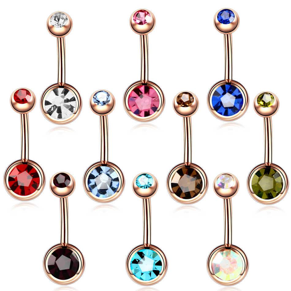 1 cái Thép Piercings Ombligo 14 gam Navel Piercings Nombril Đá Quý Bụng Piercings Belly Button Piercing Dangle Bông Tai Đồ Trang Sức Cơ Thể