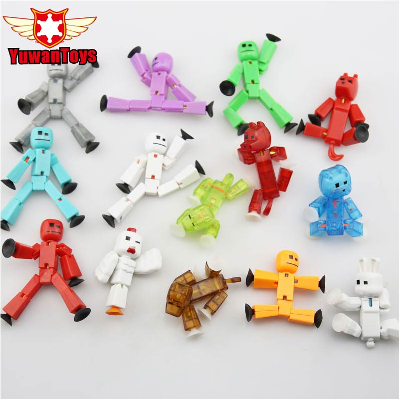 5pc/lot Random Stikbot Sucker Cute Stikbot Studio Pro Cute Funny Deformable Sticky Robot Action Figures Toys For Children Gift 12pcs set children kids toys gift mini figures toys little pet animal cat dog lps action figures
