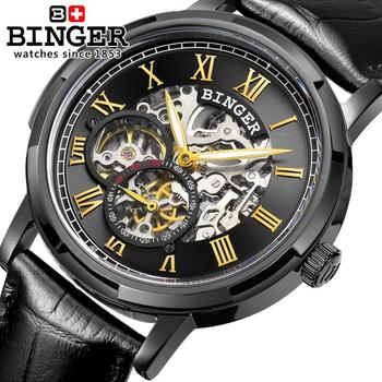 Switzerland watches men luxury brand men's watches BINGER luminous Automatic self-wind full stainless steel Waterproof B5036-6