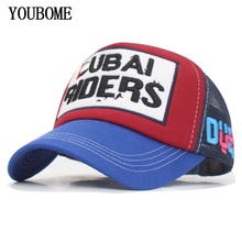 цены на YOUBOME Brand Mesh Baseball Cap Women Men Snapback Caps Hats For Men 5 Panel Casquette Bone Embroidery MaLe Dad Baseball Hat Cap  в интернет-магазинах
