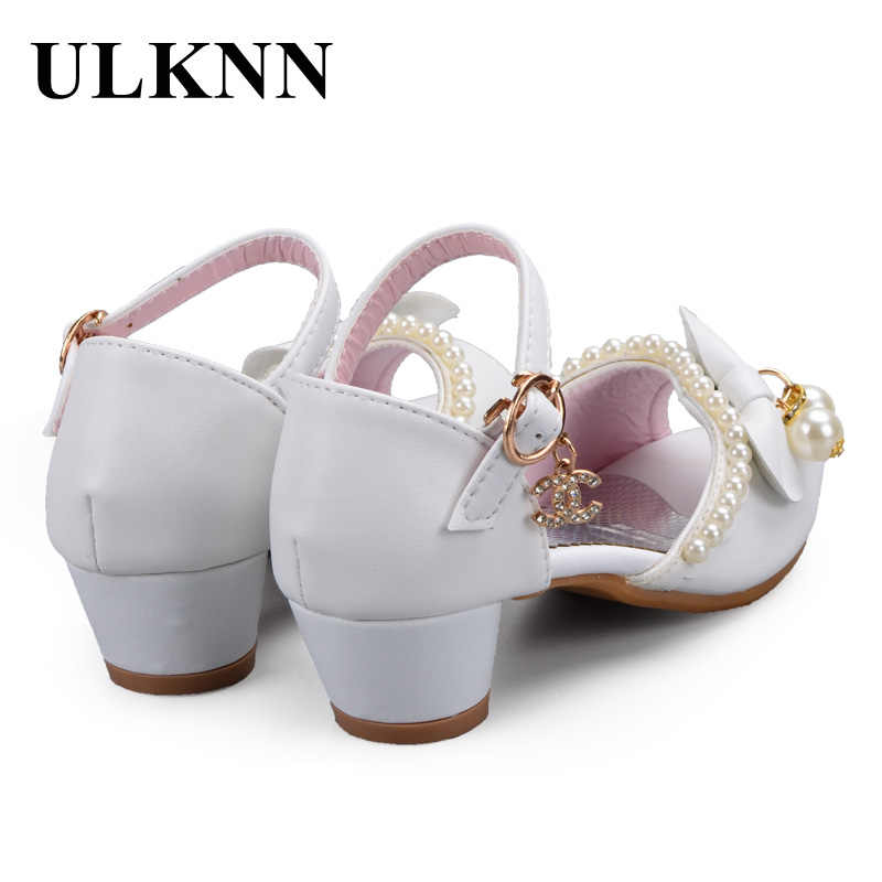 333434b94c ULKNN Enfants Children Sandals Kids Girls Wedding Shoes Dress Party Pearl  Shoes For Baby Girls Soft Leather Princess Sandals