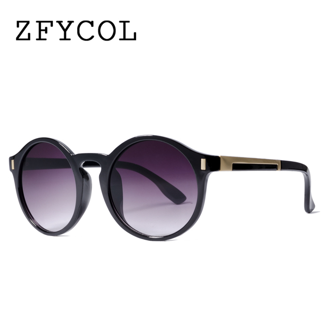 05f7ce67ebdcc ZFYCOL 2017 Mode Ronde Lunettes De Soleil Originales Marque Femmes lunettes  de Soleil des Femmes Rétro
