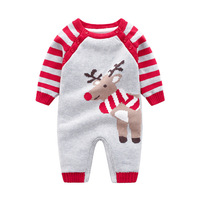 Winter Overalls for Newborn Baby Unisex Knitted Clothes Cute Deer Infant Girls Rompers Autumn Long Sleeve Boys Jumpsuits Outfits