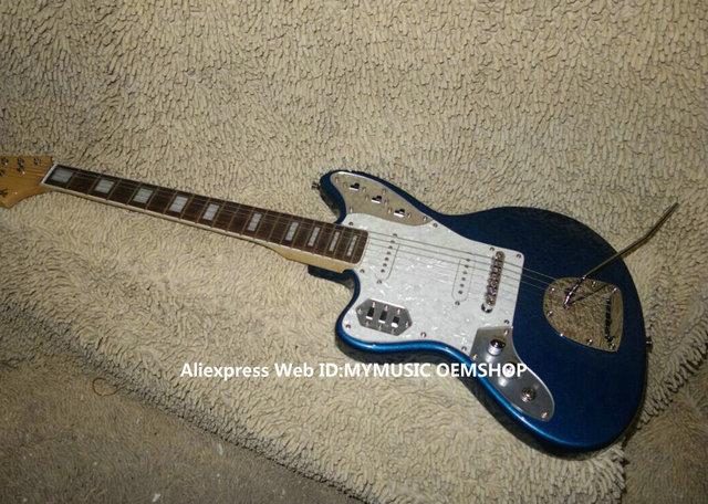 Blau jaguar linkshänder e-gitarre neue ankunft großhandel guitars aus china