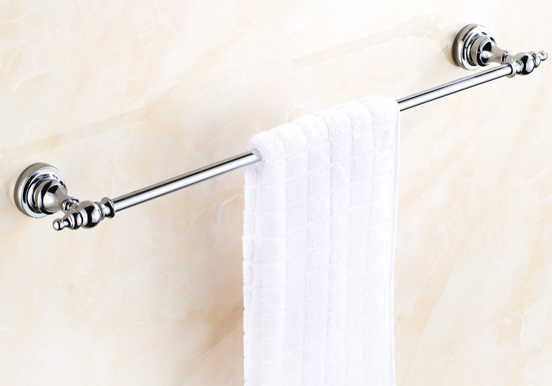 Bathroom Accessory Polished Chrome Brass Wall Mounted Bathroom Single Towel Rail Holder Rack Bar aba903 ...